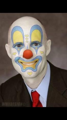 scott as a clown