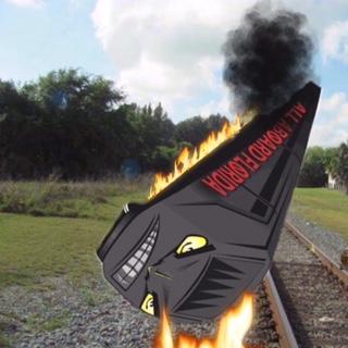 Train on Fire