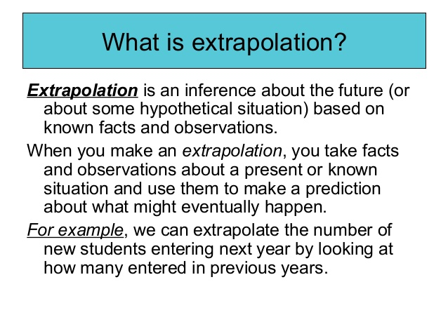 what is extrapolation