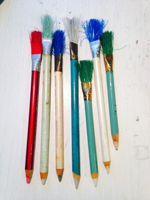 Erasers and brushes