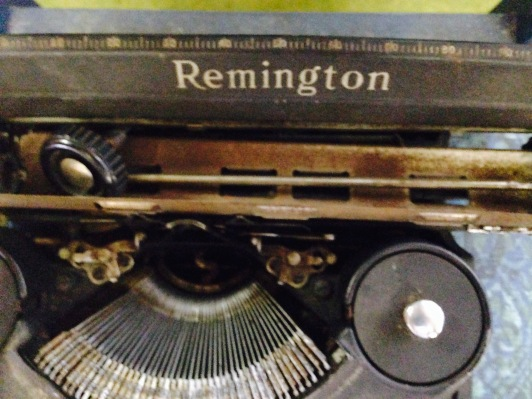 Typewriter needing roller
