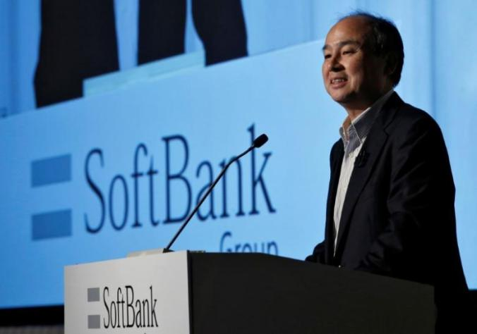 SoftBank Group Corp. Chairman and CEO Masayoshi Son speaks during an earnings briefing in Tokyo