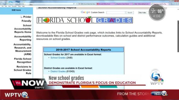 School grades website