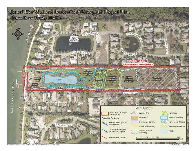 Jones Pier wetland rest concept plan jpeg
