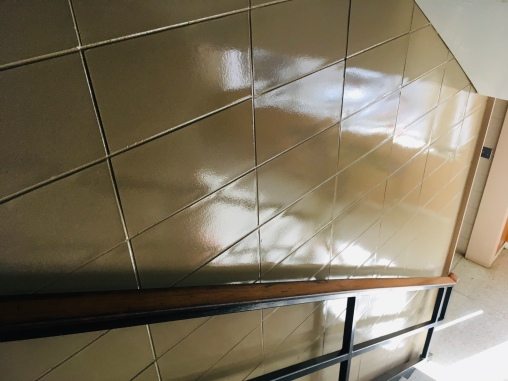Tile in stairs